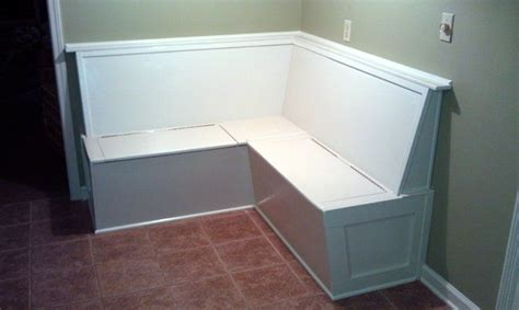 custom made l shaped built in banquette bench with hidden