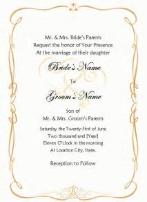 Wedding Invite Word Template by Formal Invitation Template Blank