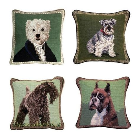 Pillows With Dogs what a bark 25 of the striking needlepoint pillows