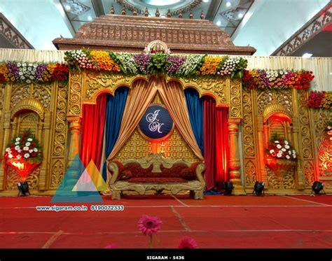 Wedding Stage Decoration @ Jayaram Thirumana Nilayam