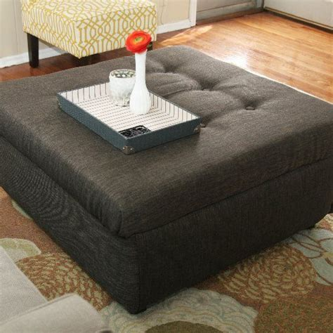 how to an ottoman turn an coffee table into a tufted ottoman with this
