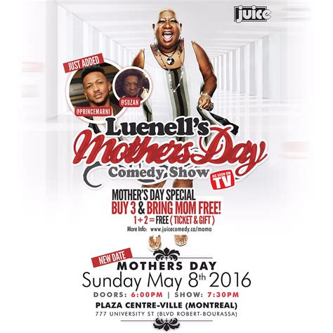s day comedy luenell s mothers day comedy show feat prince marni