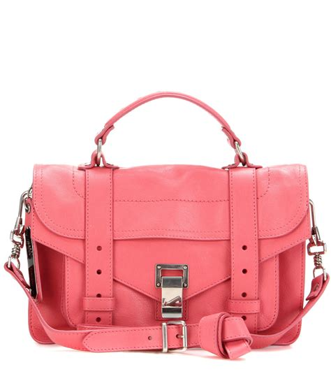 Proenza Pink by Proenza Schouler Ps1 Tiny Leather Shoulder Bag In Pink Lyst