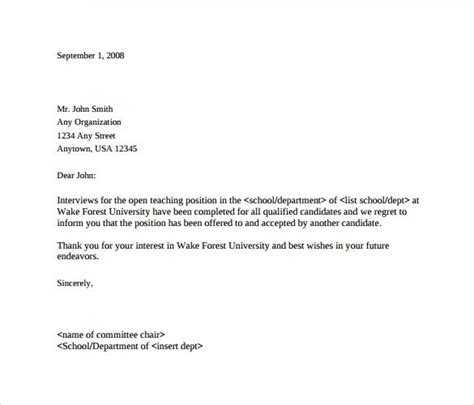 Hr Decline Letter Letter Of Rejection For Applicant After Drugerreport732 Web Fc2