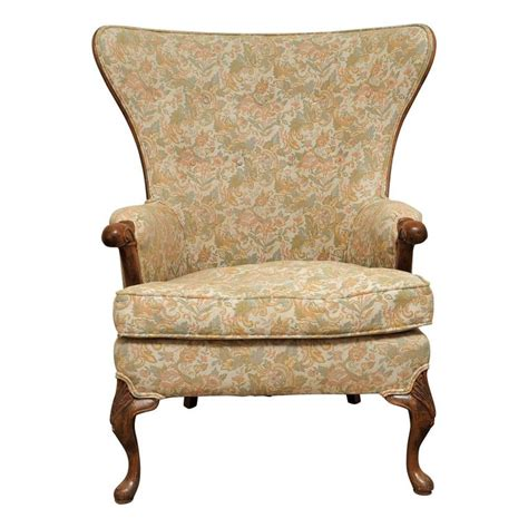 wood frame wingback chair large frame wing back chair at 1stdibs