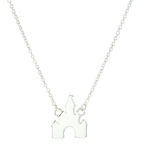 your wdw store disney necklace castle 18 silver tone