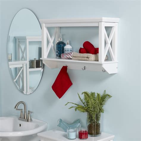 20 Best Wooden Bathroom Shelves Reviews Bathroom White Shelves