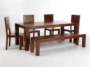 table 200x90 avec banc et 4 chaises monrovia pour salle 224