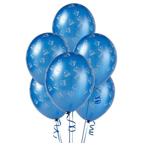 11 Black Agate Balloon Balon Motif mid blue with trains matte balloons birthdayexpress