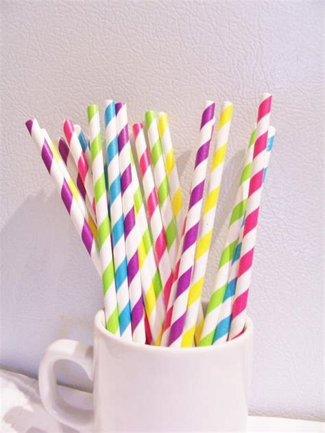decorative paper straws 20 assorted striped paper straws mixed decorative paper