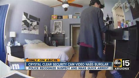 security nabs burglar in the act