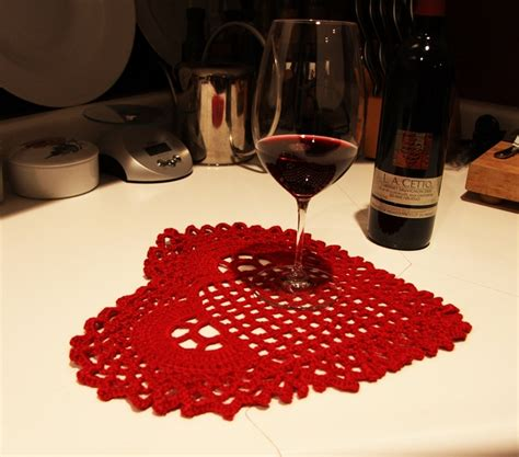 valentine home decorations valentine s day home decor crocheted table cover red heart