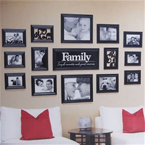 wall collage set black 15 family multi picture photo frame frames