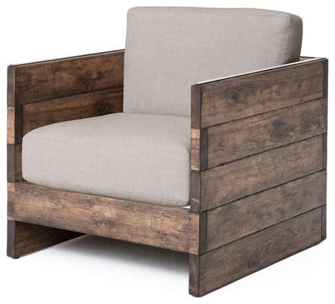 Rustic Armchair by Watson Modern Rustic Chunky Oak Square Armchair Rustic