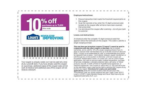 10 off lowes coupon code 2018