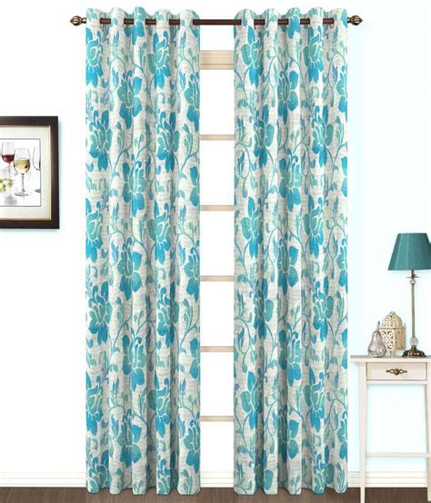 Gray Floral Curtains Skipper Blue Gray Floral Poly Cotton Eyelet Curtain Buy Skipper Blue Gray Floral Poly