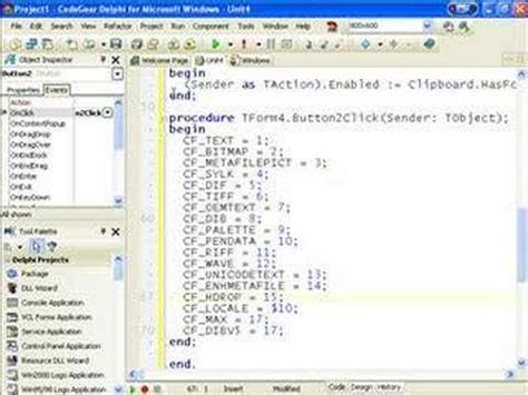 c tutorial for delphi programmers delphi programming tutorial 23 images on the clipboard