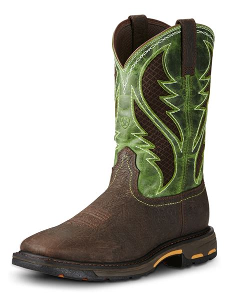 toe boots mens ariat 174 s workhog wide square toe venttek boots fort