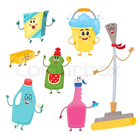 How To Get Floor Plans For My House by Set Of Funny House Cleaning Characters Detergents