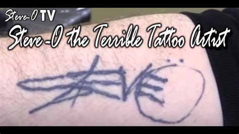 steve o tattoo removal steve o the terrible artist