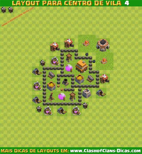 layout vila nivel 4 melhores layouts para clash of clans centro de vila n 237 vel
