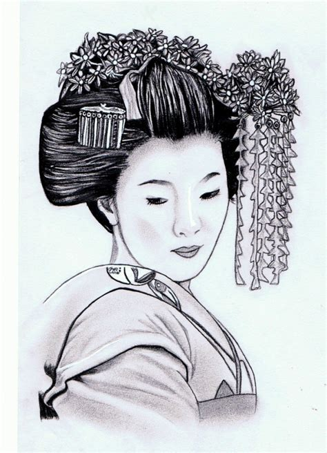 japanese geisha drawings 1000 images about oosters on pinterest coloring for