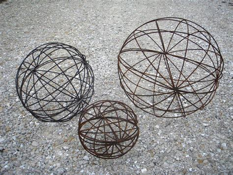wrought iron garden art balls spheres in many sizes