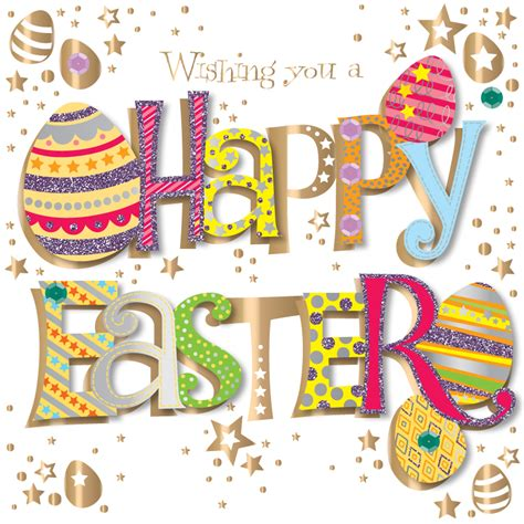 A Greeting An Advice A Question On Easter by Wishing You A Happy Easter Greeting Card Handmade By