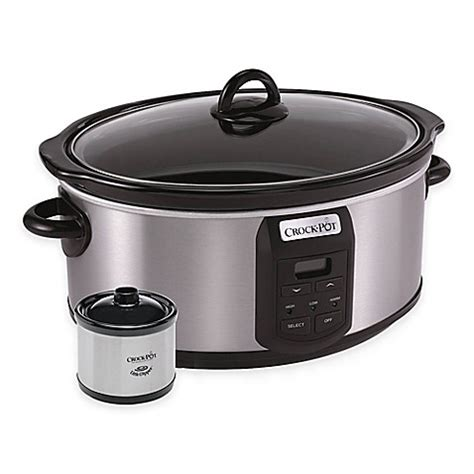 bed bath and beyond crock pot crock pot 174 7 qt slow cooker with little dipper 174 warmer bed bath beyond