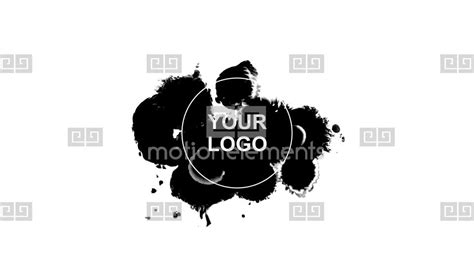 after effects template free ink text ink blot logo reveal after effects templates 1056175