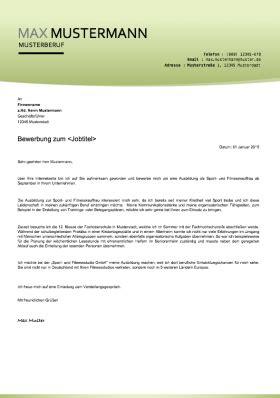 Bewerbungsunterlagen Vorlagen by Bewerbungsvorlagen Und Muster 2018 Meinebewerbung Net