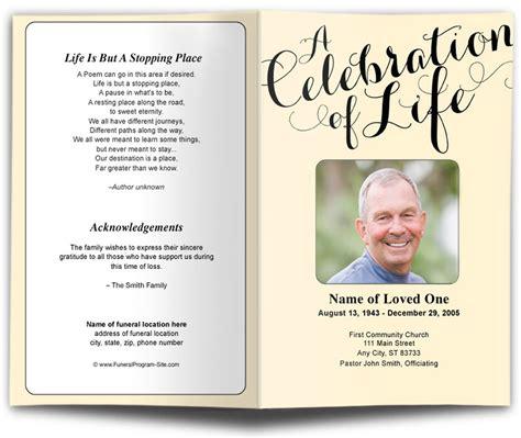 carolyna funeral program template diy funeral programs