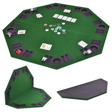 folding octagon table costway 48 octagon 8 player folding table top