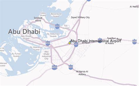 abu dhabi map location abu dhabi international airport weather station record