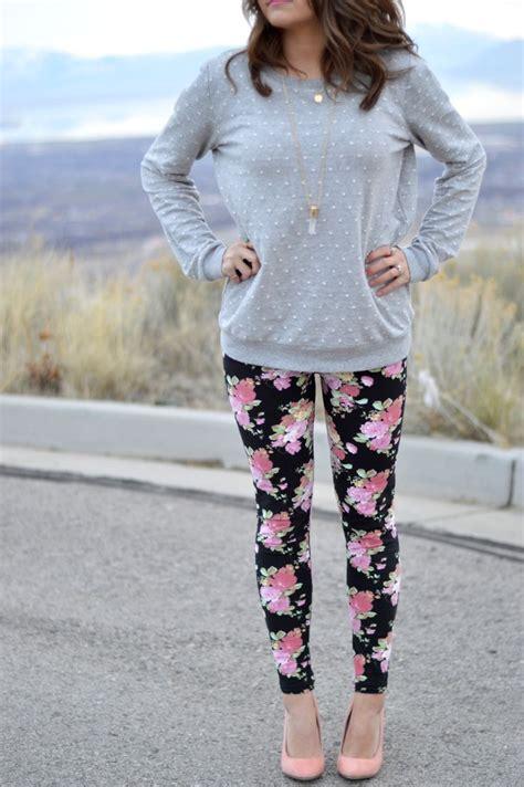 pattern grading leggings polka dot sweater floral leggings rachel sayumi b l o