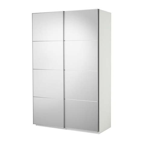 Mirror Sliding Closet Doors Ikea Ikea Pax Wardrobe White With Auli Mirror Glass Sliding Doors Product Dimensions Width 59