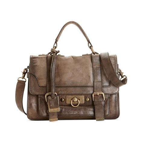 Furla Cameron frye cameron small satchel in brown taupe lyst