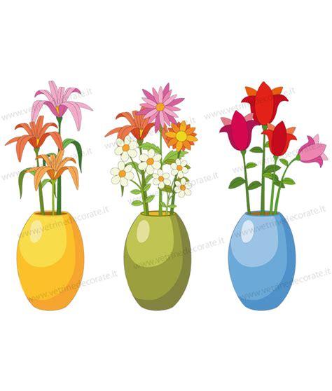 vasi con fiori tre vasi con vari fiori colorati