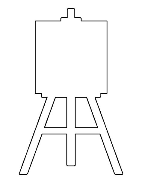 card templates for paint net easel pattern use the printable outline for crafts