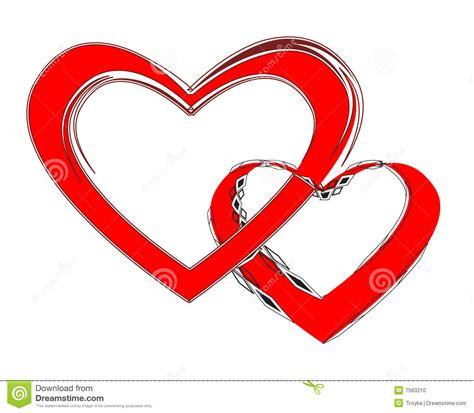 imagenes de 2 corazones unidos coppie amorose due cuori uniti illustrazione vettoriale