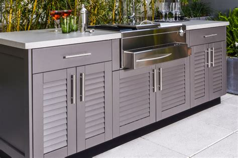 outdoor kitchen cabinets brown outdoor kitchens