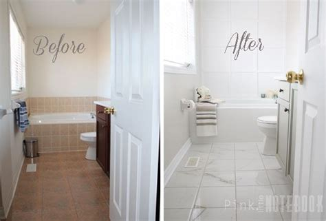 paint tile bathroom floor how to transform an ugly bathroom with diy tile painting