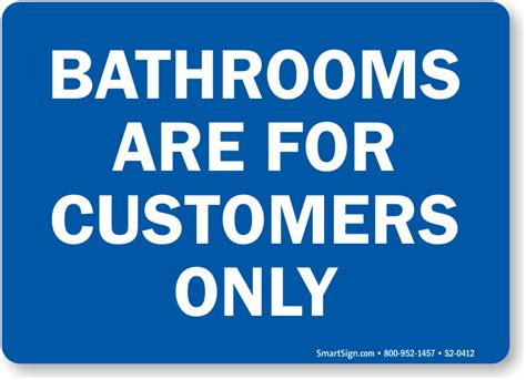 bathroom for customers only sign no public restroom signs