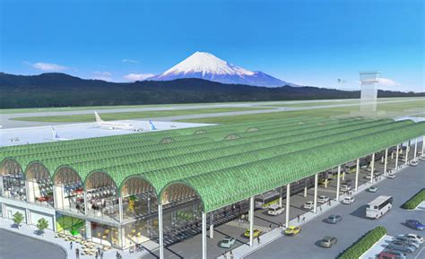 designboom airport shigeru ban to design passenger terminal for mount fuji