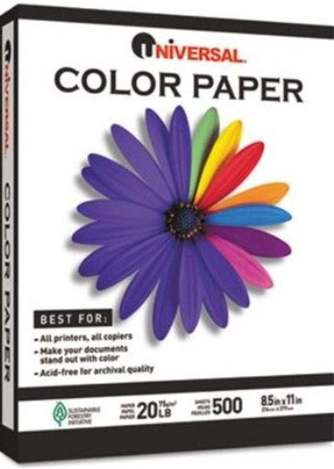 universal unv colored paper  lbs