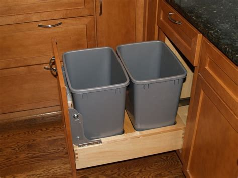 kitchen cabinet bins get cute or fun kitchen garbage can storage home decorations