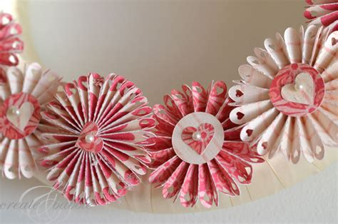 How To Make Paper Rosette Flowers - wreath made with paper rosettes create and babble