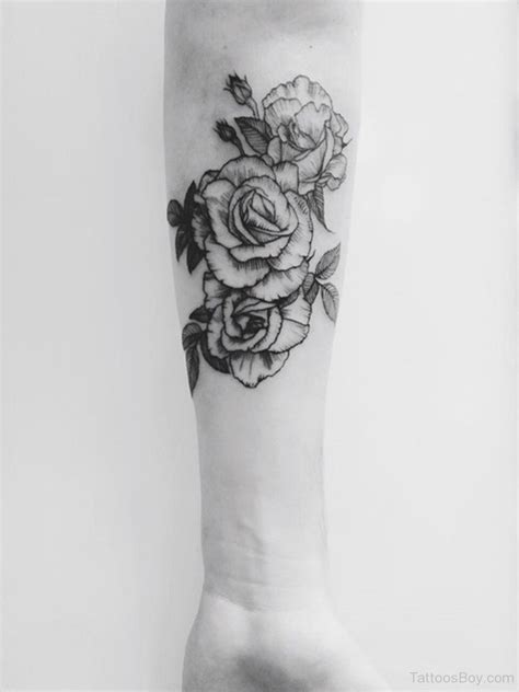 rose tattoo forearm on arm designs pictures
