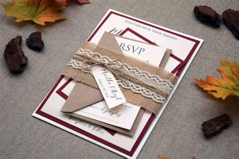 fall leaves wedding invitation kits fall wedding invitation autumn wedding invitation kit