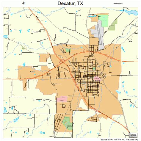 decatur texas map decatur texas map 4819528